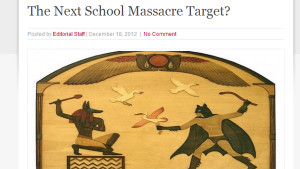 An online article claims to have found a connection between the shootings in Aurora and Newtown. It also includes a potential future target for 'the next school massacre.' (Photo: RevelationNow)
